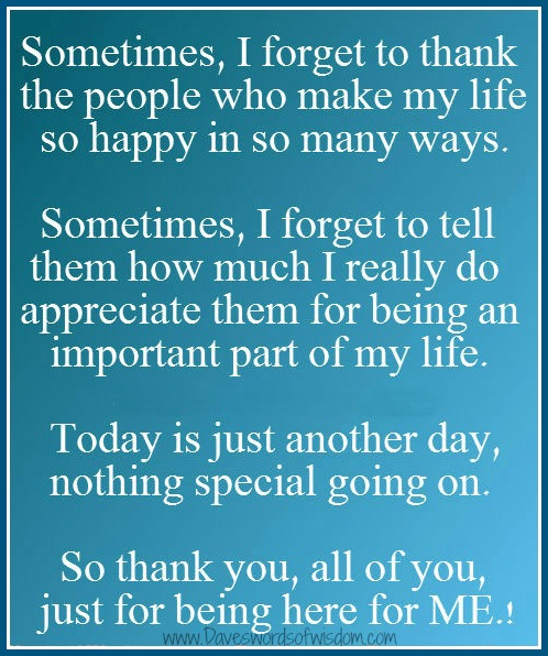 daveswordsofwisdom com thank you for being there for me