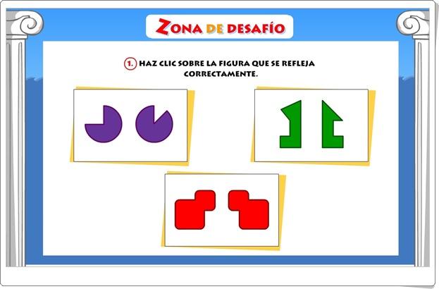 """""""Zona de Desafío: Simetría"""" (Juego de Matemáticas de Primaria)"""