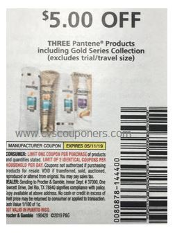 $5/3 Pantene Hair Care P&G coupon insert 4/28 (EXP: 5/11)