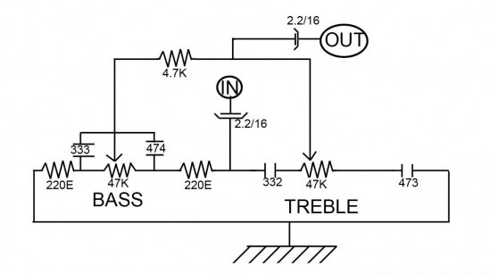 How to Treble and Bass Control without IC or Transistor