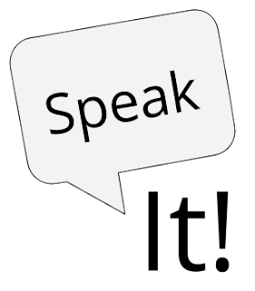 Speak It! App logo image.