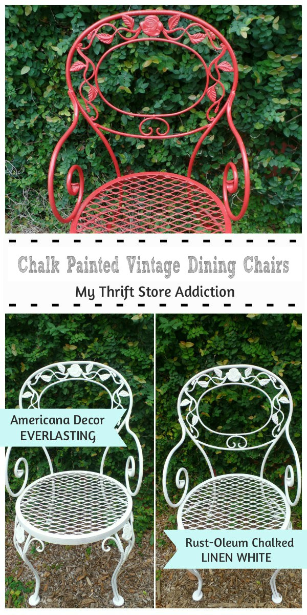 chalk painted chair tutorial