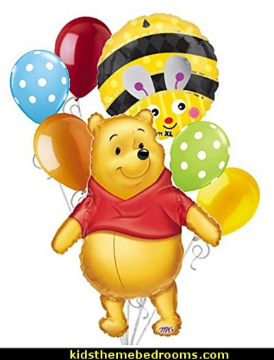 Winnie the Pooh Big as Life Balloon Bouquet Party Decoration  bee themed party - bumble bee decorations - Bumble Bee Party Supplies - bumble bee themed party - Pooh themed birthday party - spring themed party - bee themed party decorations - bee themed table decorations - winnie the pooh party decorations - Bumblebee Balloon -  bumble bee costumes
