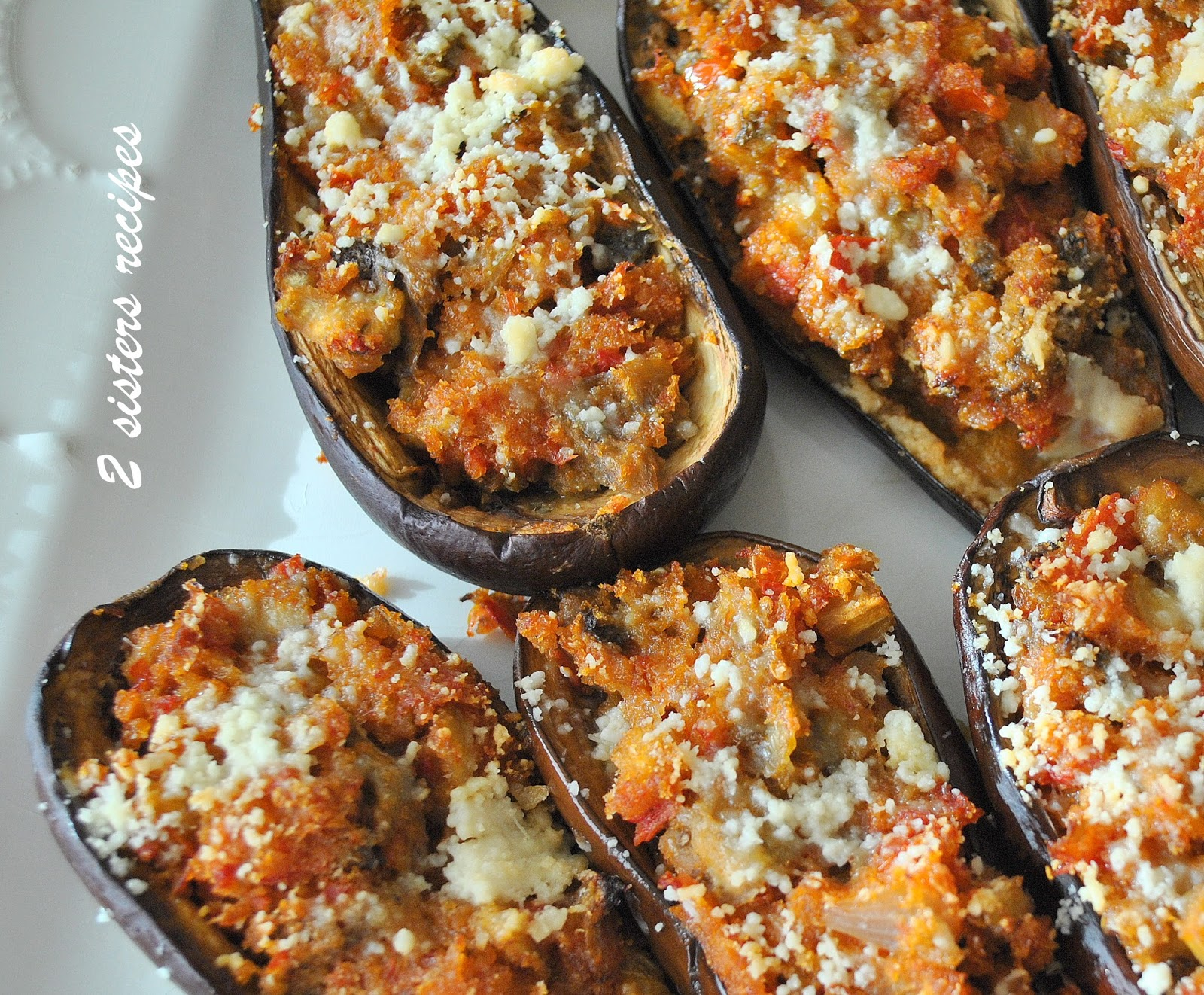 easy stuffed mini eggplants 2 sisters recipes by anna and liz. Black Bedroom Furniture Sets. Home Design Ideas