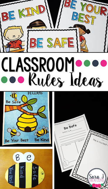Books, posters, crafts and activities to make setting up classroom rules in an elementary school easy!