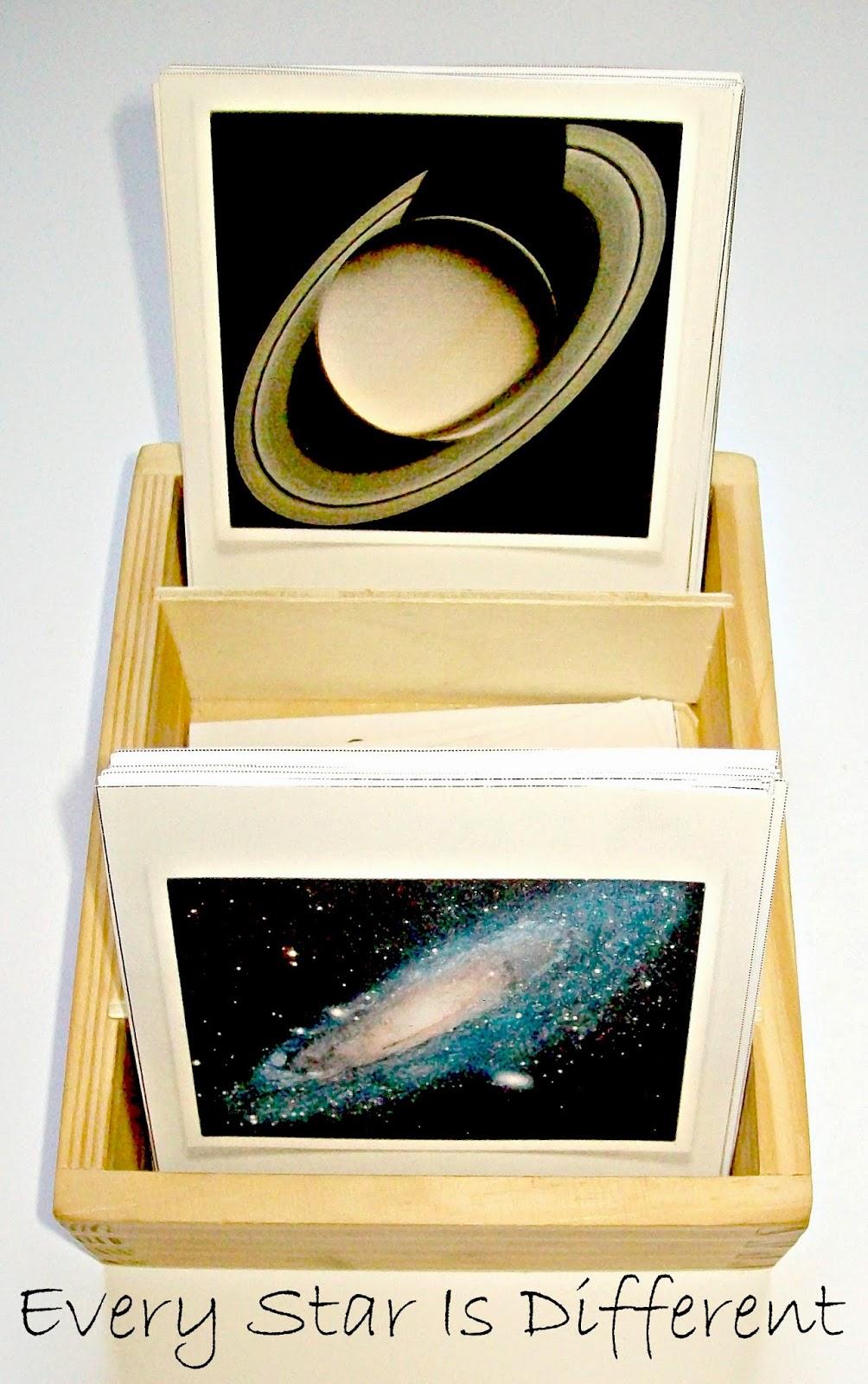 Planet nomenclature cards.