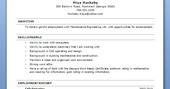 Maintenance Specialist Sample Resume Format in Word Free Download