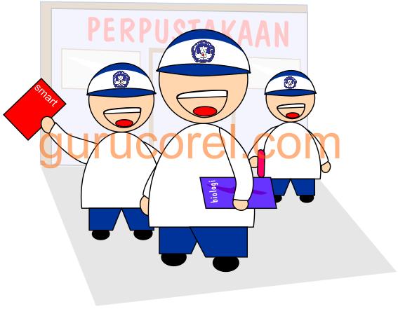 Kartun Anak Sekolah Smp Cdr Guru Corel