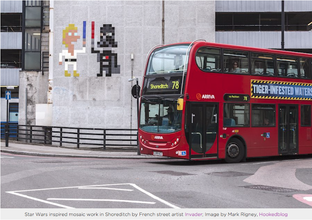 French Street Artist Invader's London Street Art Star Wars Mosaic