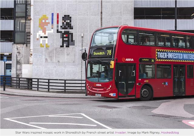 French Street Artist Invader's London Street Art Star Wars Mosaic