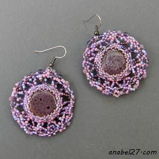 сиреневые серьги фиолетовые бохо фриформ