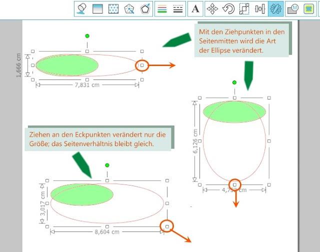 Schaubild zur Wirkweise der Ziehpunkte am Objektrahmen