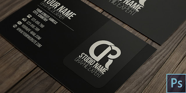 Modern Black Business Card + PSD — Photoshop Tutorial