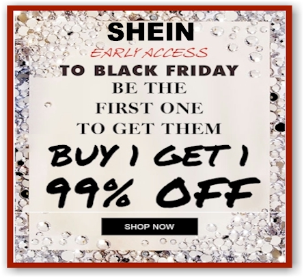 91a83f034d49 SheIn Early Black Friday Sale: Buy-One-Get-One for 99% Off; FREE Shipping  sitewide