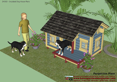Home garden plans dh303 dog house plans dog house for Lean to dog house plans