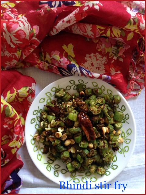 Bhindi Stir Fry with Peanuts