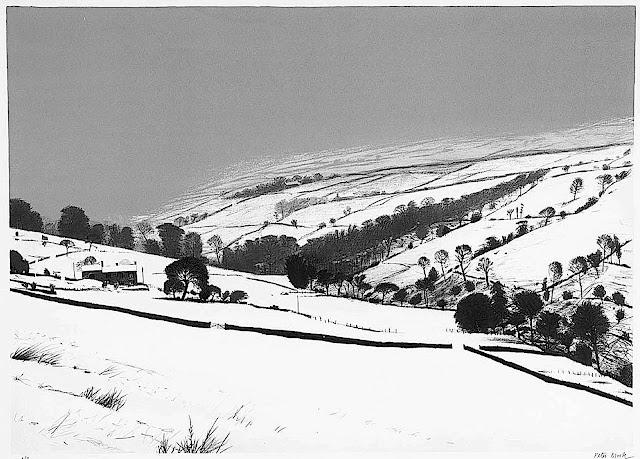 Peter Brook 1975 winter landscape valley
