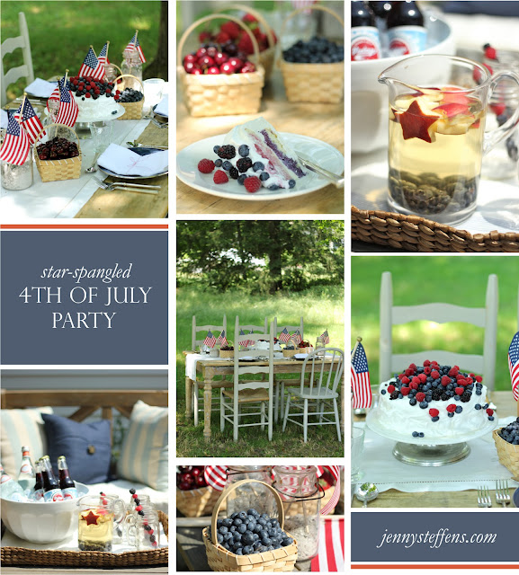 Jenny Steffens Hobick Recipes: Jenny Steffens Hobick: 4th Of July Table Setting, Red