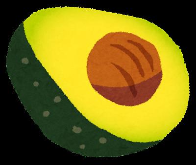 アボカドのイラスト(フルーツ)