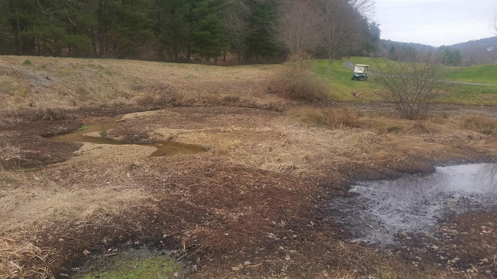 Kenmure Golf Maintenance Pond Dredging On Hole 5