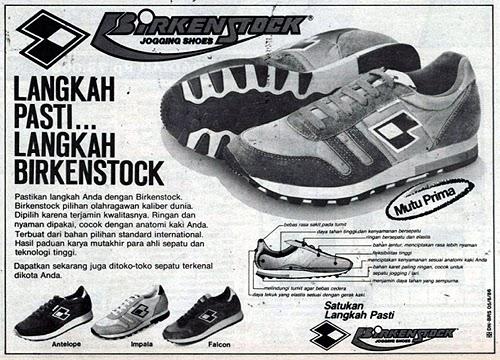 Iklan Retro Indonesia Iklan Sepatu Birkenstock
