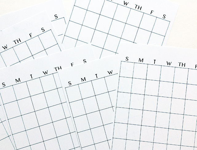 Calendar Notebook Design : Alisaburke simple homemade planner