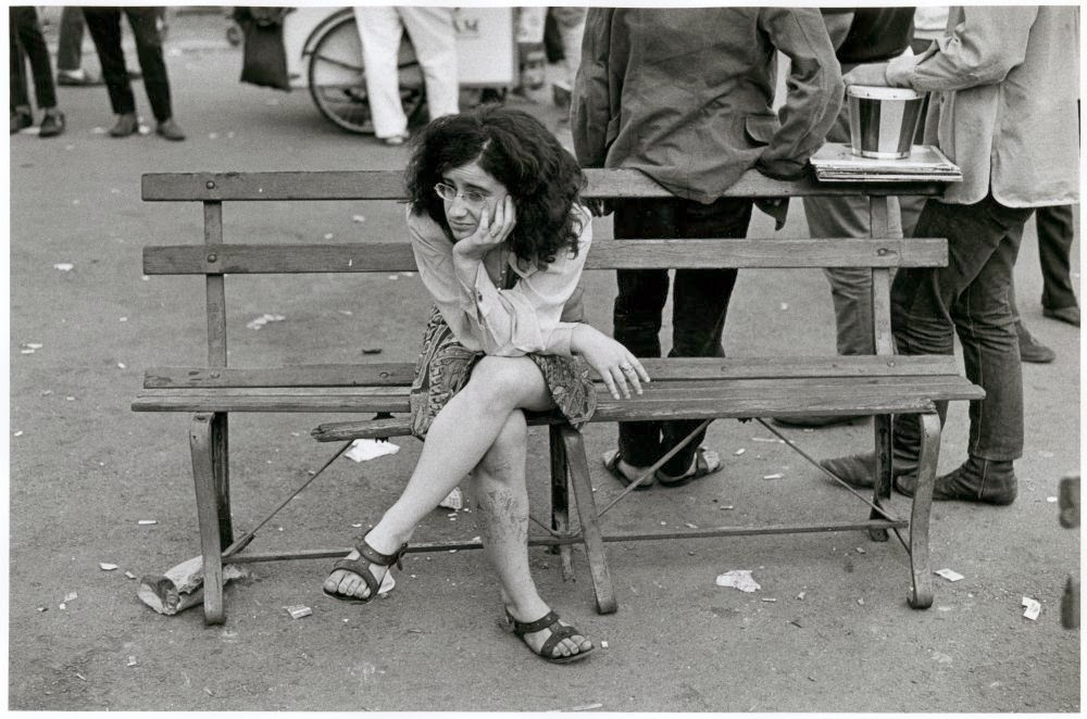 Black and white photos of daily life in new york in the 1960s