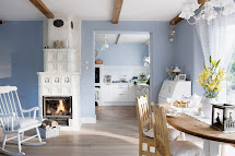 Blue and White Country Home Decor