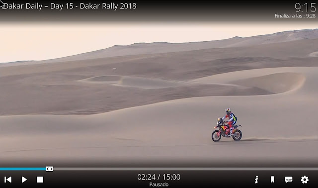addon RED BULL TV dakar 2018 kodi
