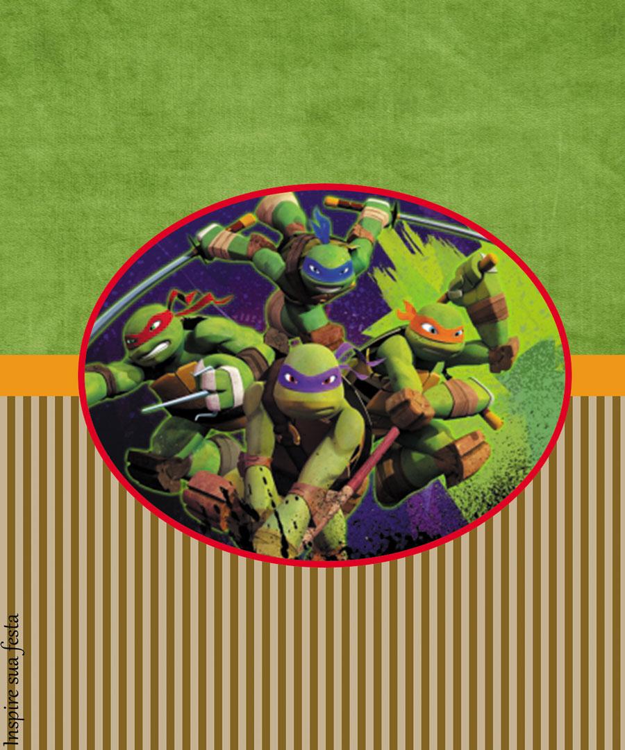 Tortugas Ninja Invitaciones Imprimibles Para Fiestas Y