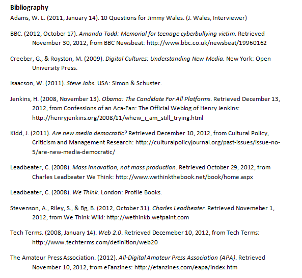 participatory culture essay sophie riley a screenshot of my bibliography