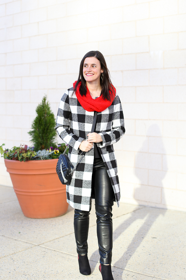 Naturally Me, Holiday Outfit Idea, How to Wear A Plaid Coat for the Holidays, The Perfect Holiday Outfit