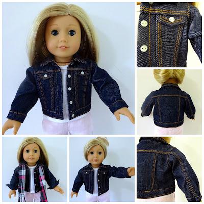 doll clothes denim jacket