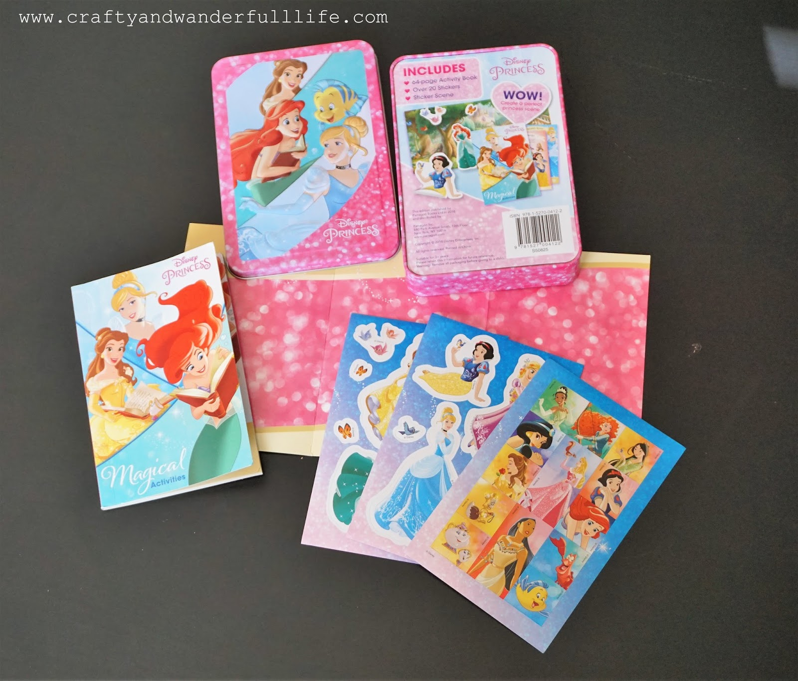 Crafty And Wanderfull Life Parragon January 2018 Book Buddies Box Sticker Activity Books My Pretty Pink While The Tin Is Small Its Packed With A Lot Of Fun Inside Disney Princess Mini Collectors Youll Find An Stickers