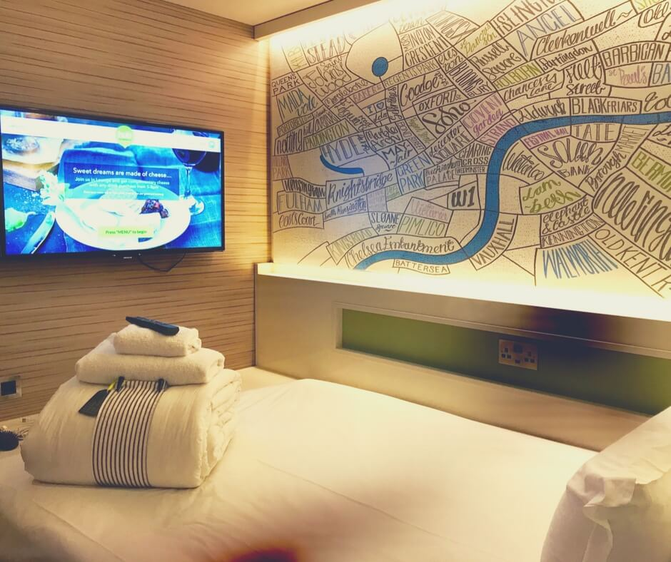 TV on the wall at Hub by Premier Inn