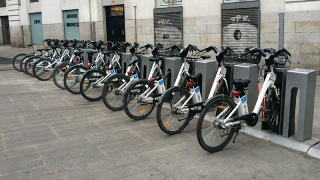 Bicicletas em Madri