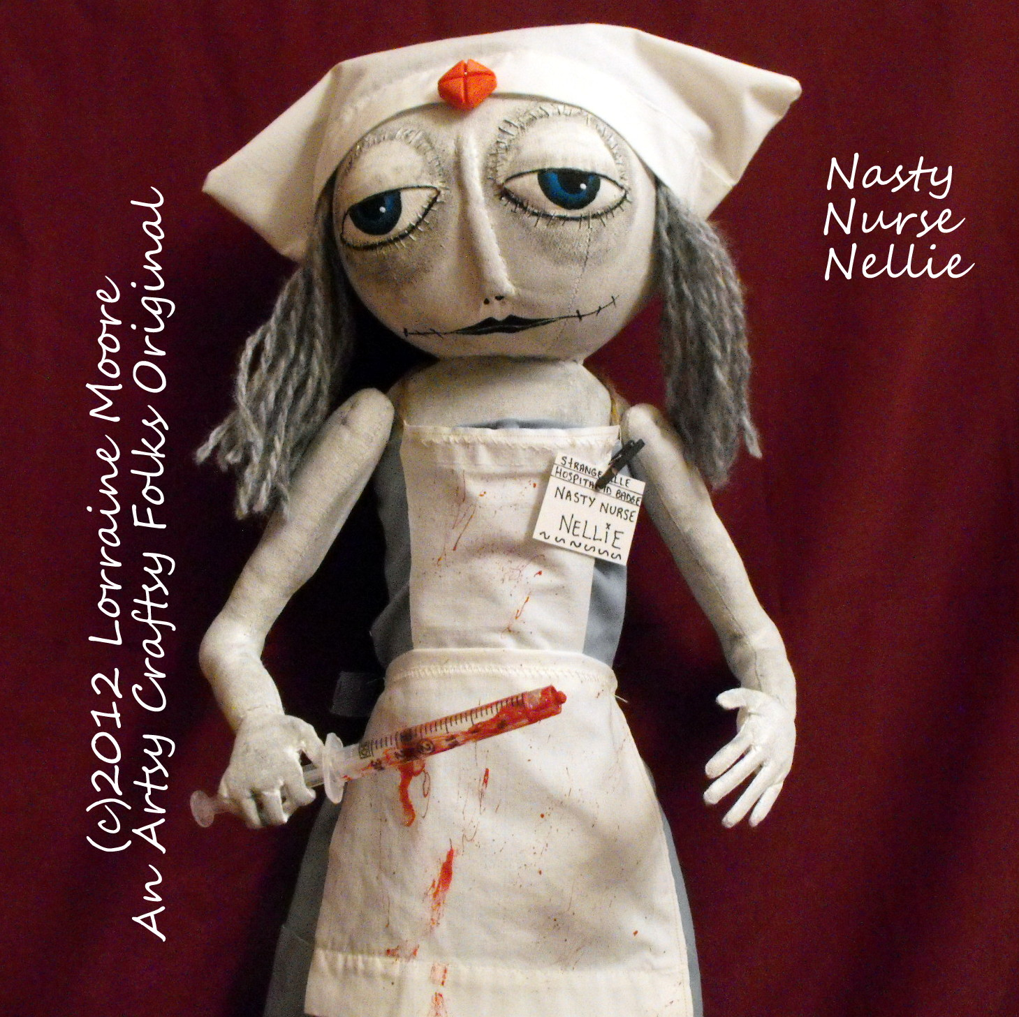 06b69ea5ae74a Artsy Craftsy Folks Original Art Dolls: Nasty Nurse Nellie - New ...