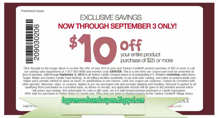 Past Yankee Candle Coupon Codes