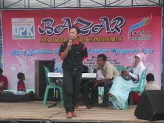 Pembukaan Bazar PNPM MPd Kec. Sindang 2011
