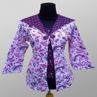 contoh baju batik kombinasi