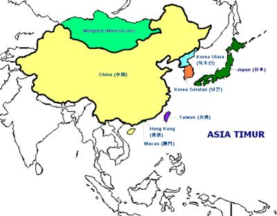 Bendera Negara Kawasan Asia Timur Alif Mh Shagir Gambar Peta