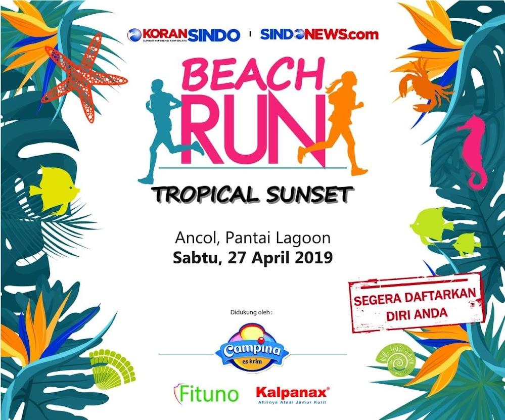 Beach Run Tropical Sunset • 2019