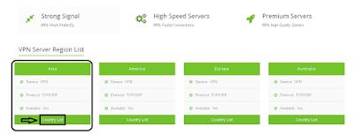 Memilih Akun VPN Server Asia
