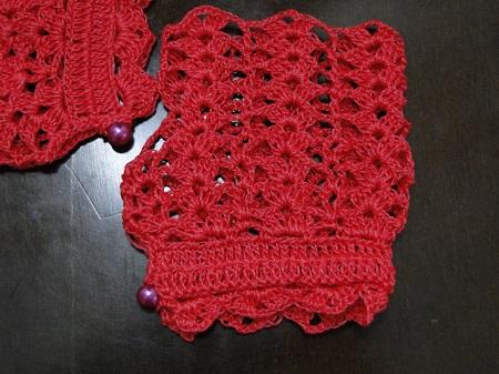 Luvas de crochê sem dedos criadas Por Pecunia M. MillioM