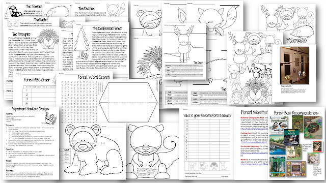 https://www.teacherspayteachers.com/Product/Forest-Animal-Unit-Common-Core-Aligned-2233871