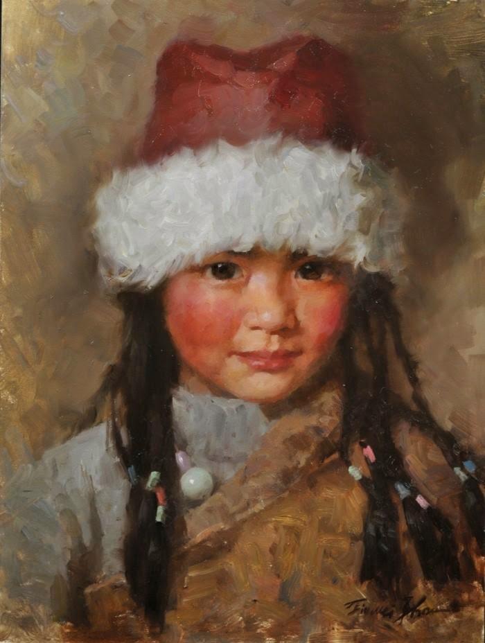 Китайский художник. Jie Wei Zhou