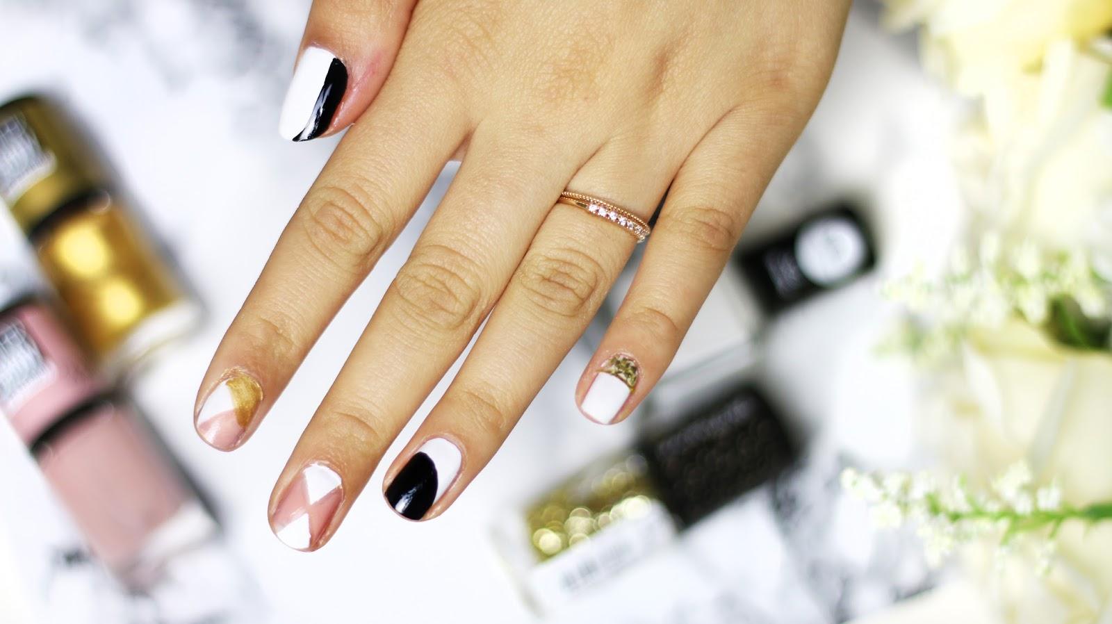 5 einfache schnelle nagel designs sanny kaur. Black Bedroom Furniture Sets. Home Design Ideas