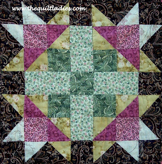 quilt pattern using squares and triangles