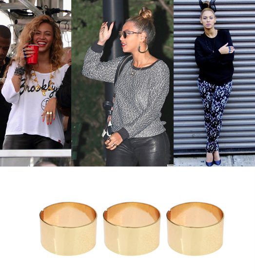 Beyonce  asos plain band rings
