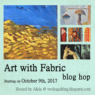 Art with Fabric blog hop @ tweloquilting.blogspot.com